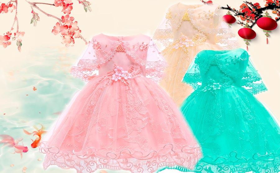 vestidos de bebe niña