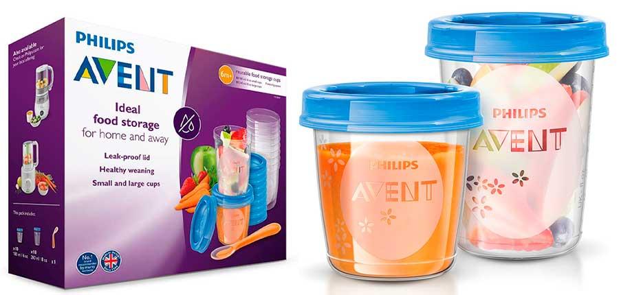 recipientes de alimentos bebe Philips Avent