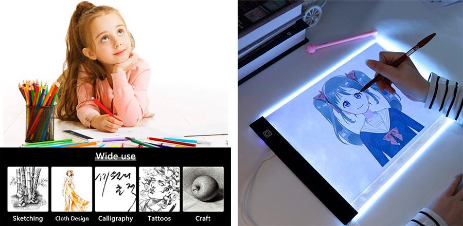 Para que sirve una mesa de luz LED para niños